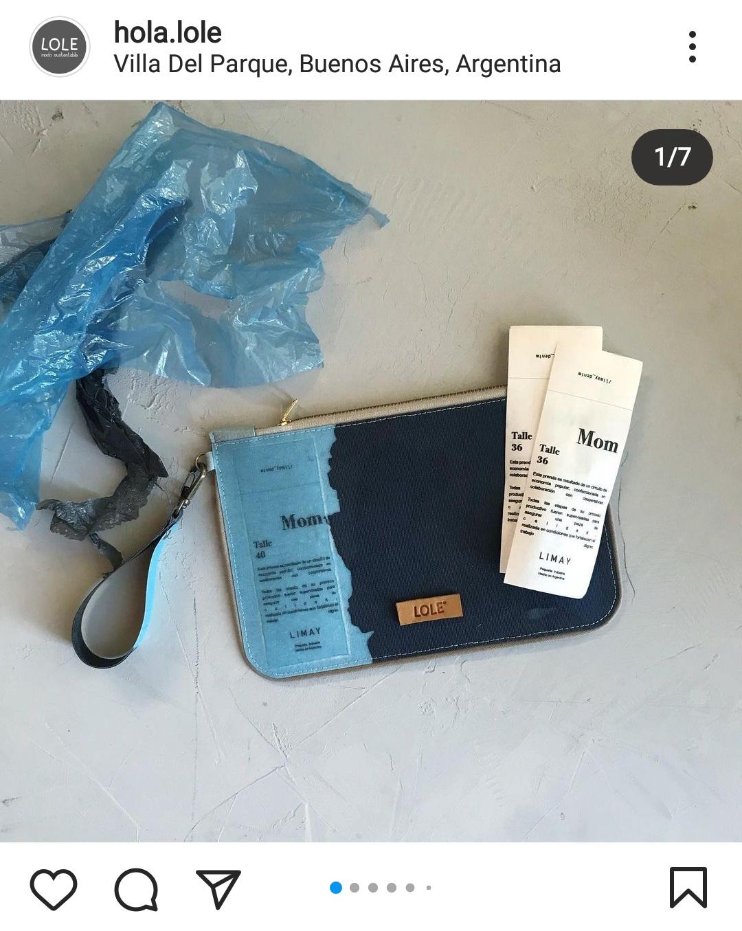 portadocumento hecho con bolsas de plástico recuperado de @hola.lole
