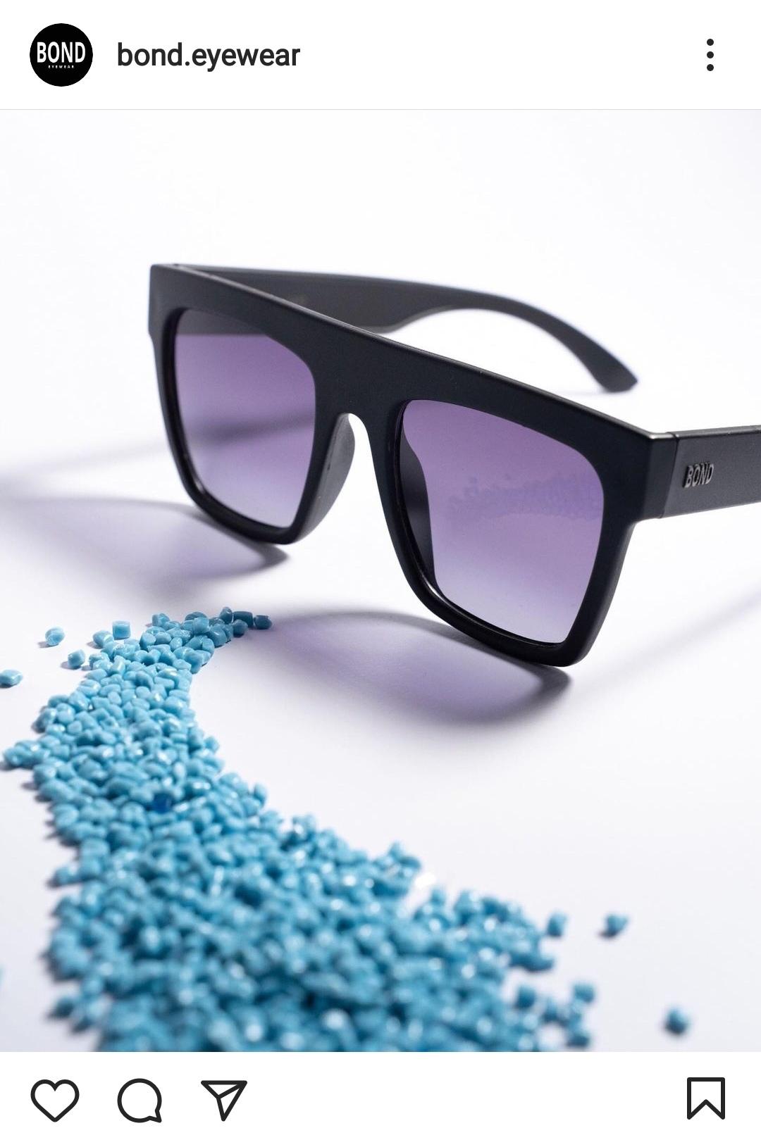 lentes hechos con plasticos recuperados de @bond.eyewear