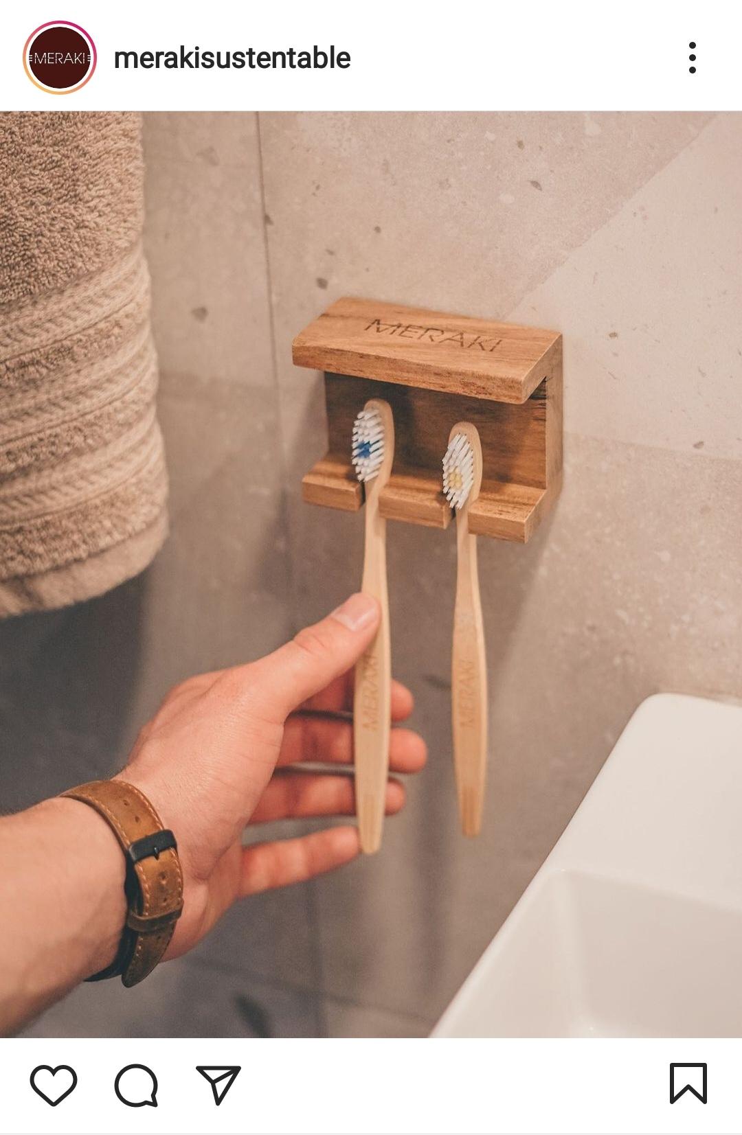 cepillos de diente de bambú de @merakisustentable